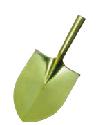 Golden Color Painted Round Head Shovel
