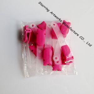 78mm Long Bright Color Plastic ID Badge PVC Strap Clip (P161216A) pictures & photos