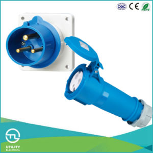 Non-Waterproofing Male Panel-Mounted Plug for Industrial Plugs & Sockets pictures & photos