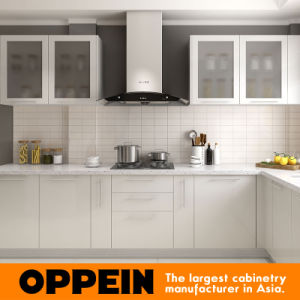 Modern L Shaped Lacquer Wood Wholesale Modular Kitchen Cabinets (OP16 L02)