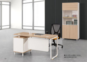 Melamine Office Staff Desk with Drawer pictures & photos