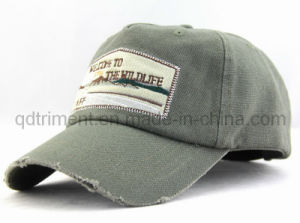 Grinding Washed Canvas Embroidery Applique Leisure Baseball Cap (TMCCB) pictures & photos