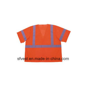 100% Polyester Safety Reflective Vest with ANSI/Isea pictures & photos