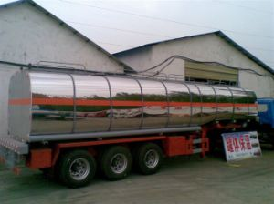 Asme Stainless Steel Fuel Tank Trailer pictures & photos