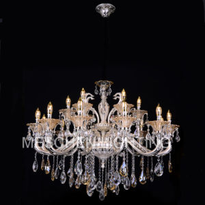 12+6 Lights Traditional Chandeliers Ceiling Pendant Lights K9 Crystal