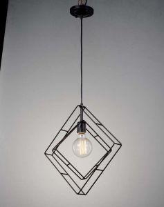 Double Flame Diamond Shape Pendant Lighting Lamp
