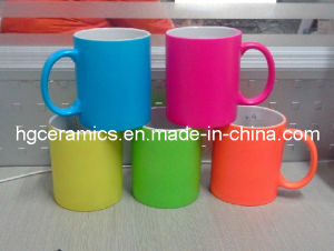 Fluorescent Ceramic Mug, Neon Color Mug, Neon Mug pictures & photos