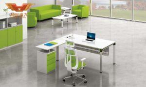 Popular Steel Leg L Shape Modern Office Desk (H50-0102) pictures & photos