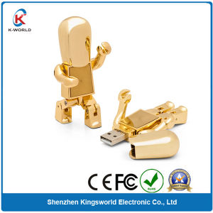 Golden Metal Robbot USB Flash Drive pictures & photos