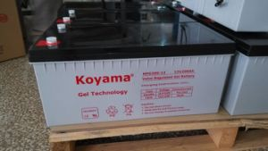Koyama Gel Storage Battery 250ah 12V for Solar Power pictures & photos