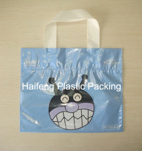 Garment & Shoes Plastic Packaging Bag/ Soft Loop Handle Polybag/ Shopping Bag /Packing Bag pictures & photos
