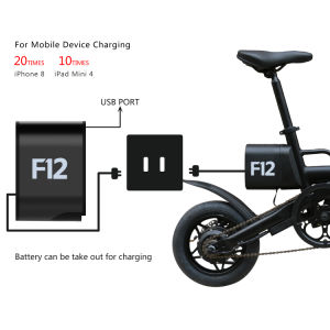 12 Inch Portable lithium Battery Folding Electric Bike for Adults pictures & photos