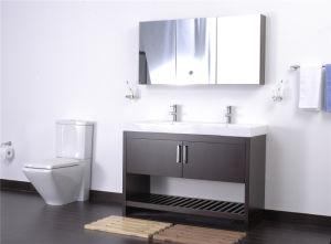 Veneer PVC Solid Wood Double Sanitary Ware Vanities Bathroom Cabinet