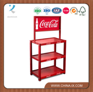 Customized Free Standing Wooden Storage Racks on Wheels pictures & photos