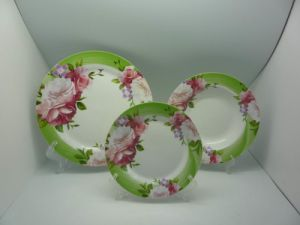 18PCS Dinner Set With Rose Design (WT101031)