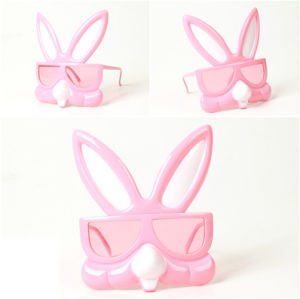 Easter Bunny Party Glasses for Pink