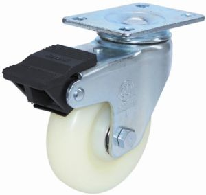 Swivel Nylon Caster with Dual Brake (White) pictures & photos