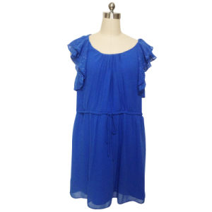Ladies Fashion Casual Dress in Polyester Ggt