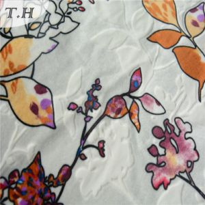 2016 Flowers and Stripe Velvet Fabric in 300GSM (FEP011) pictures & photos