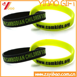 Printed Logo Silicone Wristband for Promotional Gift pictures & photos