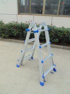 Telescoping Extension Ladder, Aluminium Folding Ladder with En131, Asnzs pictures & photos