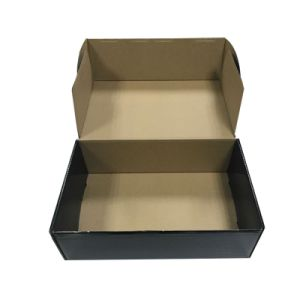 Black Full Printed Cardboard Gift Packing Box (FP7042) pictures & photos
