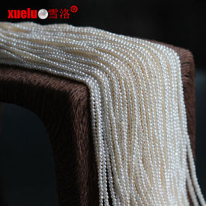 2.5-3mm Micro Small Nearly Round Freshwater Pearls Strand Wholesale pictures & photos
