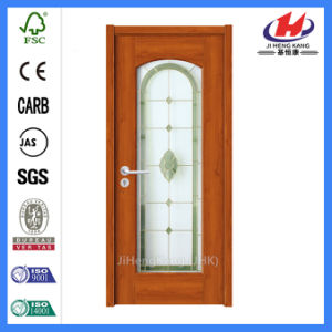 Moderm White Prime Solid Wood Glass Door (JHK-G05) pictures & photos