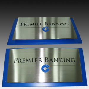 Stainless Steel Signage Etching Plaque and Painted pictures & photos