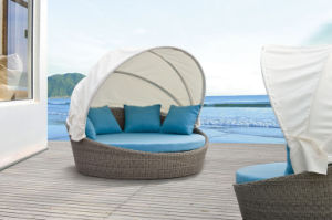 Outdoor Furniture Sun Loungers Wicker Daybed pictures & photos