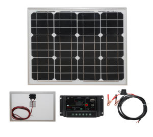 High Efficiency Mono 30W Solar Panel for 12V Battery pictures & photos