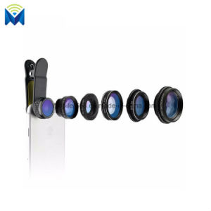 6 in 1 Full Set Mobile Phone Camera Lens Kit Clip on Fish Eye Lens Kit Wide Angle Macro Lens for iPhone Samsung pictures & photos