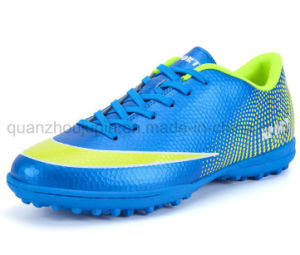 OEM Outdoor PU Rubber Sport Football Soccer Sneaker Shoes pictures & photos