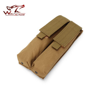Tactical Airsoft Molle Double P90 Magazine Pouch pictures & photos