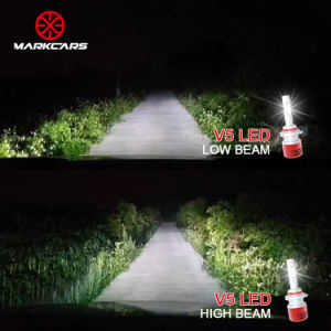 Markcars V5 Headlight H1 H7 8400lm LED Auto Lamp pictures & photos