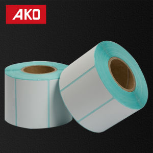 Pre-Printed Blue Glassine Liner Thermal Coated Layer Heat Sensitive Self Adhesive Sticker Label pictures & photos
