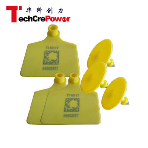 V-100A Passive RFID Ear Tag for Cow Inventory System RFID Sheep Ear Tag pictures & photos