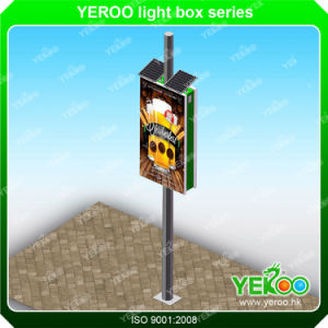 Outdoor Road Sign Solar Lamp Pole Lightbox pictures & photos