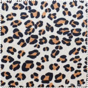 High Quality Leopard Pattern PU Faux Leather for Shoes, Bag (CF020130W) pictures & photos