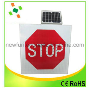 Aluminum Speed Limited Solar LED Flashing Traffic Sign pictures & photos
