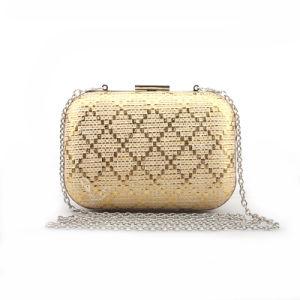 High Quality Women Handbag Shining Newest Box Clutch Bag pictures & photos