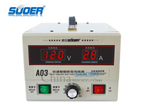 Suoer 12V 24V 30A Rechargeable Solar Battery Charger (A03) pictures & photos