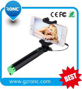 Colorful Foldable Cable Take Pole Selfie Stick for All Smartphone pictures & photos