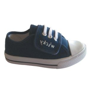 European Style Design Fashion Canvas Shoes Kids Import Shoes pictures & photos