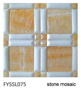 Nature Stone Marble Mosaic Onyx House Building Material Wall Til Floor Tile (FYSSL075)