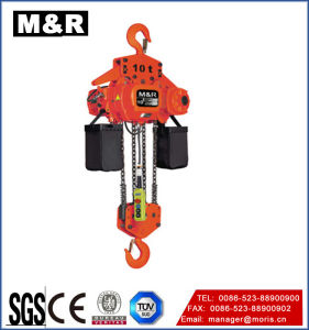 10 Ton Hook-Fixed Type Electric Chain Hoist with Single Speed pictures & photos
