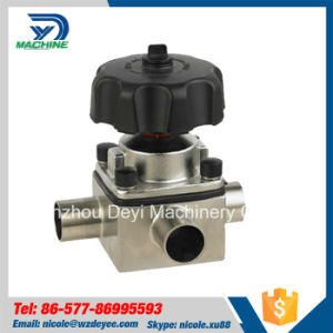 Stainless Steel Sanitary Three Way Manual Diaphragm Valve (DY-V134) pictures & photos