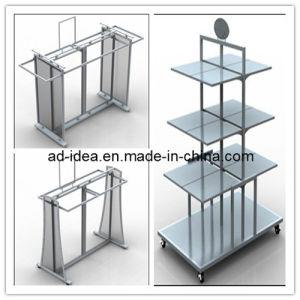 Almond Shelves / Black Double Hangrail Combination Merchandiser with Almond Shelves pictures & photos