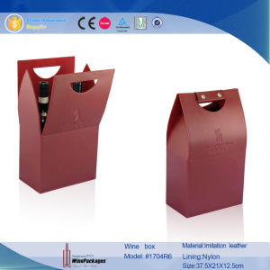 Dual Bottle Wholesale Custom Gift Packaging Wine Box (1704R2) pictures & photos