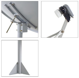 120cm Ku Band Dish Antenna with Pole Mounted pictures & photos